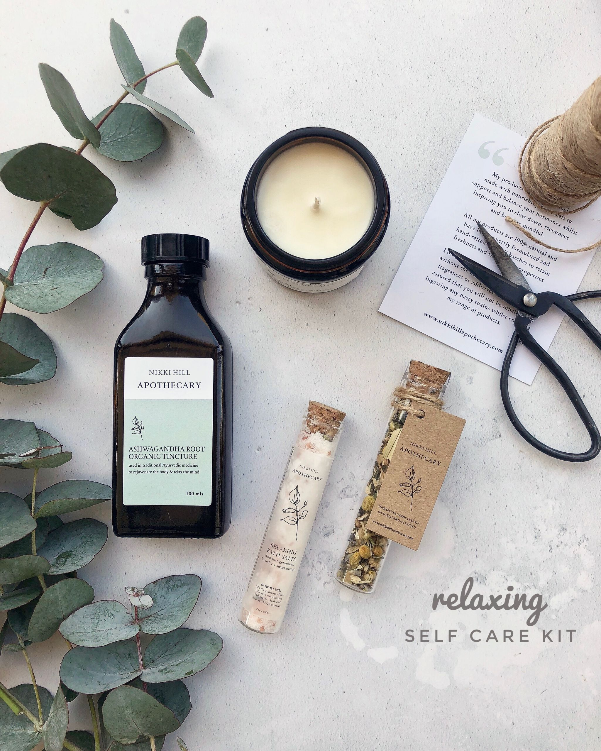 stress self care kit notjustatit christmas gift guide 2020 small business nikki hill apothecary